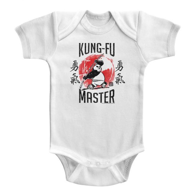 Kung Fu Panda Kung-Fu Master White Baby Onesie T-Shirt