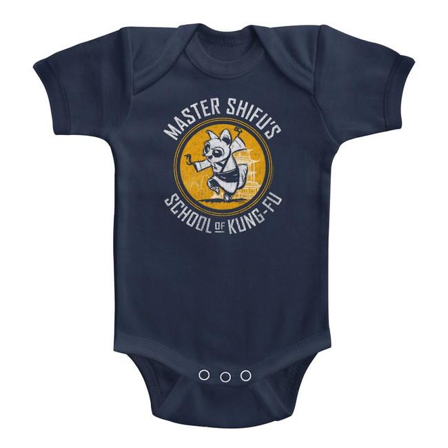 Kung Fu Panda Shifu Kung-Fu School Navy Baby Onesie T-Shirt