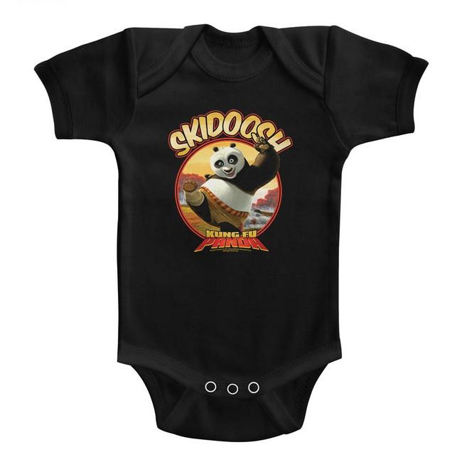 Kung Fu Panda Skidoosh Black Baby Onesie T-Shirt