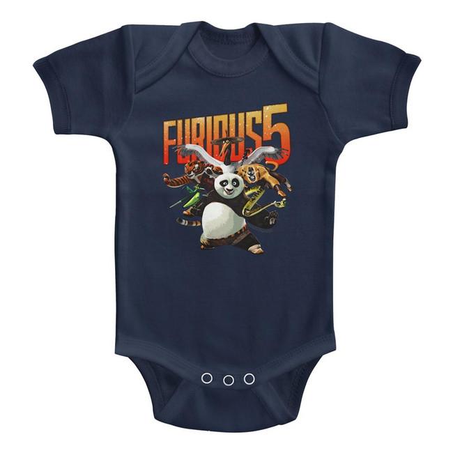 Kung Fu Panda Furious Five Navy Baby Onesie T-Shirt