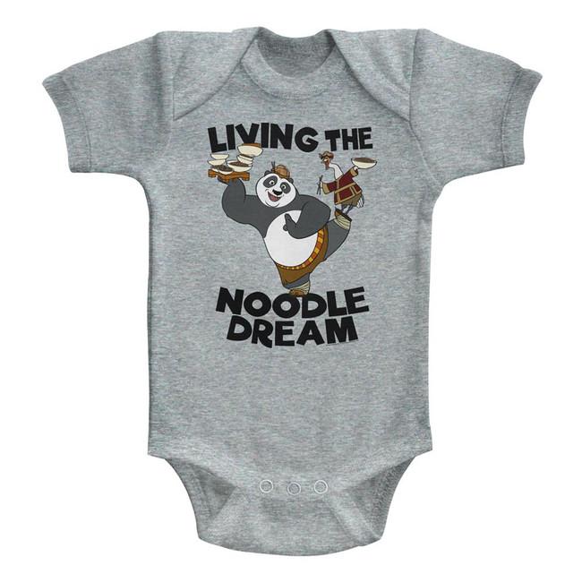 Kung Fu Panda Noodle Dream Gray Heather Baby Onesie T-Shirt