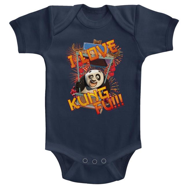 Kung Fu Panda Love Navy Baby Onesie T-Shirt