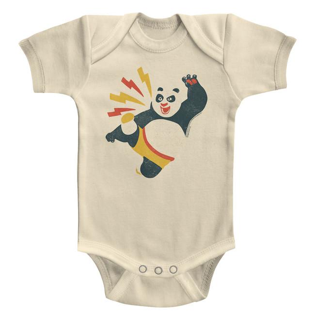 Kung Fu Panda Kicky Boy Natural Baby Onesie T-Shirt