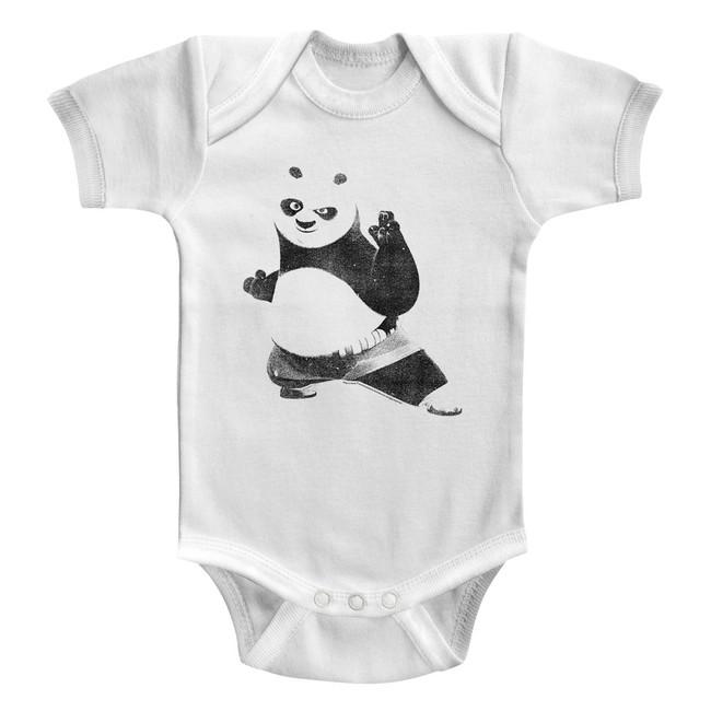 Kung Fu Panda Strike A Pose White Baby Onesie T-Shirt