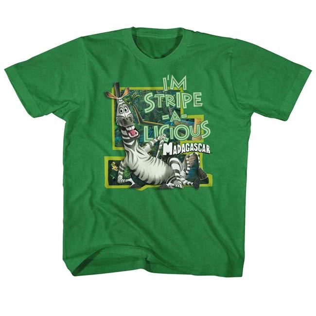 Madagascar Stripe-A-Licious Green Children's T-Shirt