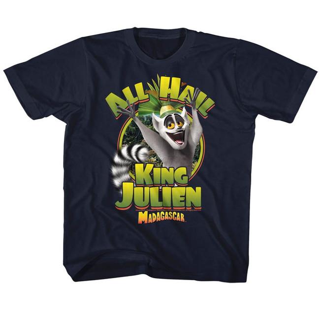 Madagascar King Julien Navy Children's T-Shirt