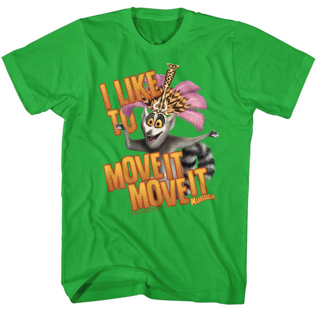 Madagascar Move It Move It Green Adult T-Shirt
