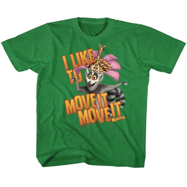 Madagascar Move It Move It Green Children's T-Shirt