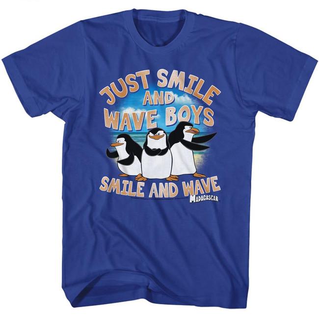 Madagascar Just Smile Royal Adult T-Shirt