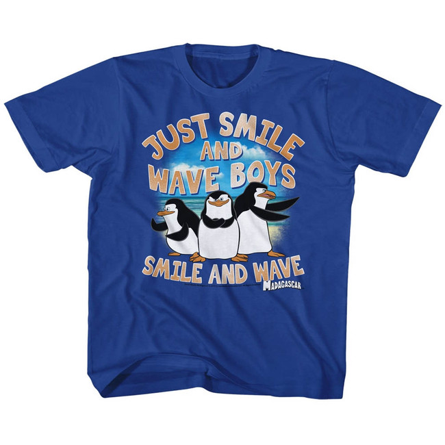Madagascar Just Smile Royal Children's T-Shirt