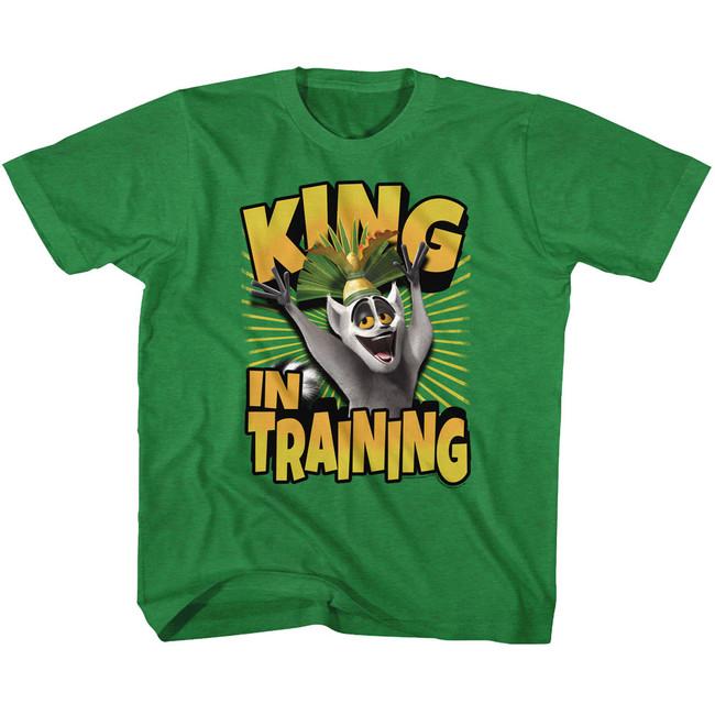 Madagascar King In Training Green Toddler T-Shirt
