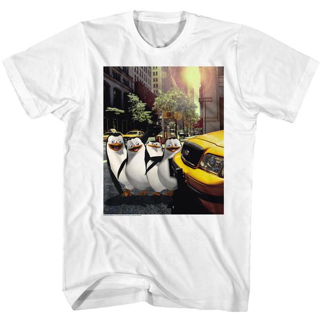 Madagascar Penguin NYC White Adult T-Shirt