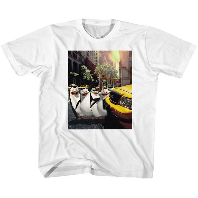 Madagascar Penguin NYC White Youth T-Shirt