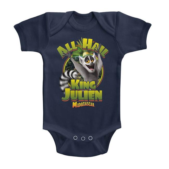 Madagascar King Julien Navy Baby Onesie T-Shirt