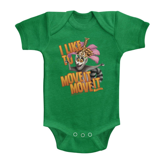 Madagascar Move It Move It Green Baby Onesie T-Shirt