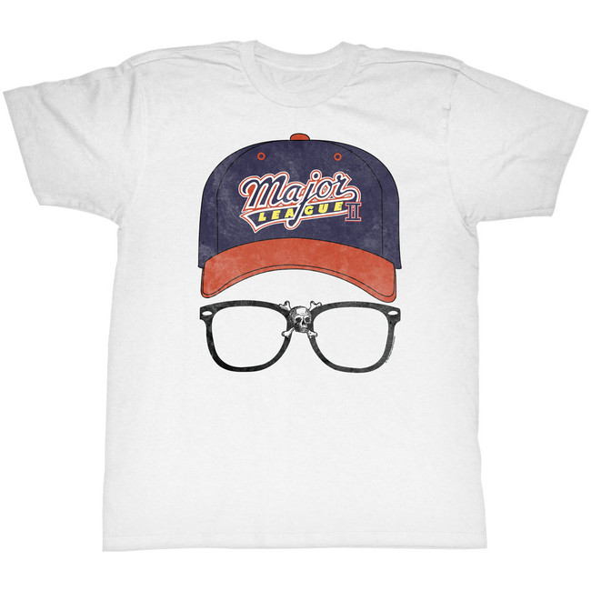 Major League Logo Cap White Adult T-Shirt
