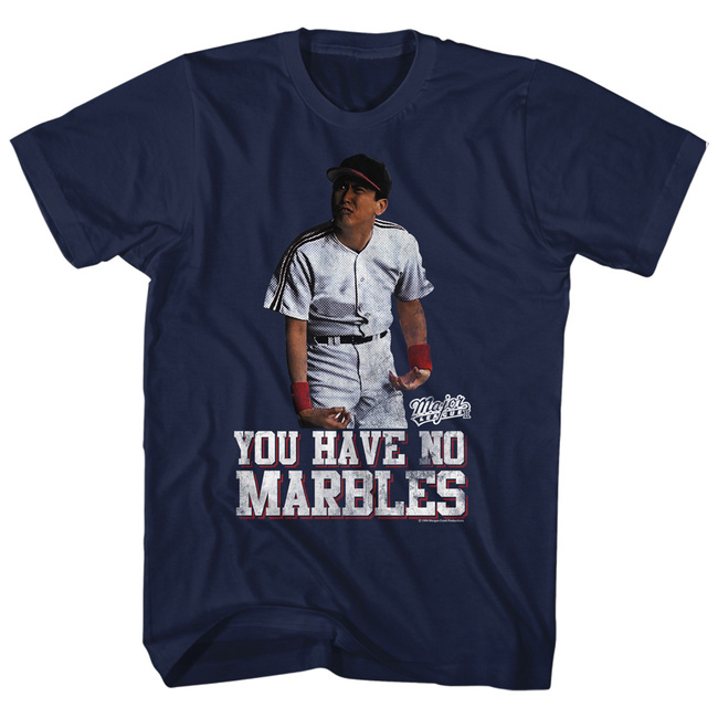 Major League Marbles Navy Adult T-Shirt