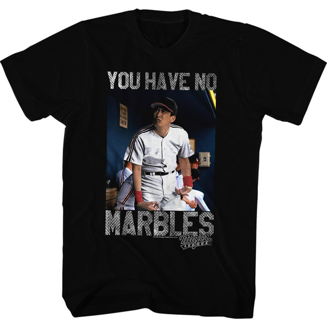 Major League No Marbles Black Adult T-Shirt