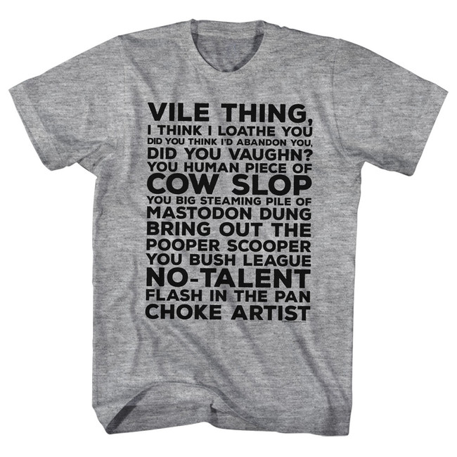 Major League Vile Thing Gray Heather Adult T-Shirt