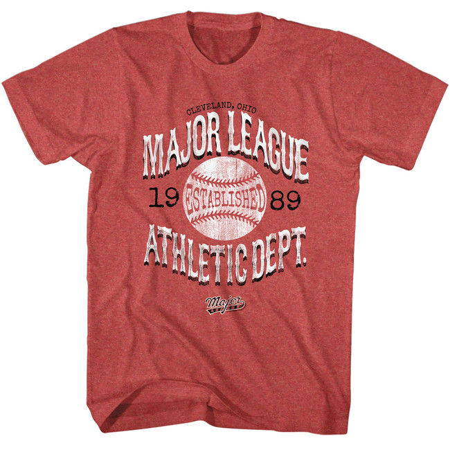 Major League Vintage Major League Red Heather Adult T-Shirt