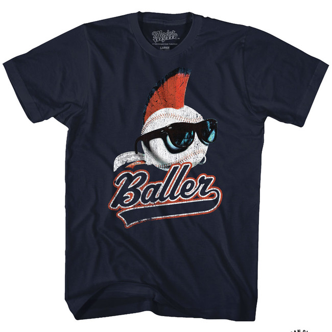 Major League Baller Navy Adult T-Shirt
