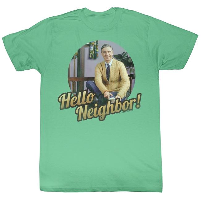 Mister Rogers Hello Mahi Heather Adult T-Shirt