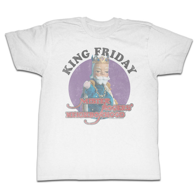 Mister Rogers Friday White Adult T-Shirt