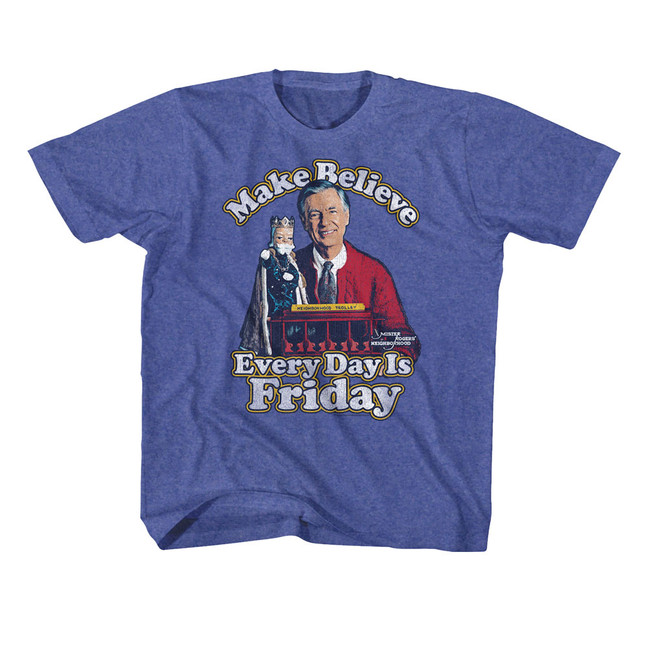 Mister Rogers Friday Everyday Vintage Royal Youth T-Shirt