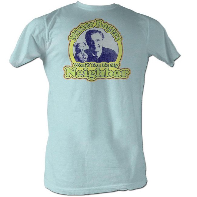 Mister Rogers My Neighbor Light Blue Heather Adult T-Shirt