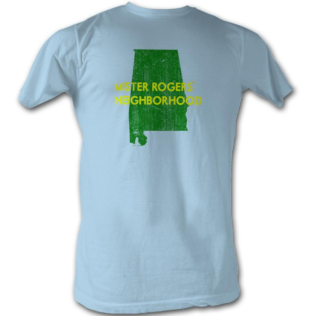 Mister Rogers My Hood Alabama Light Blue Adult T-Shirt