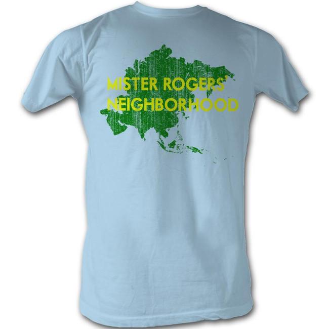Mister Rogers My Hood Asia Light Blue Adult T-Shirt