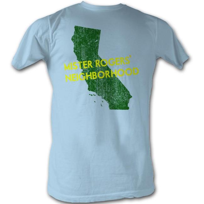 Mister Rogers My Hood California Light Blue Adult T-Shirt