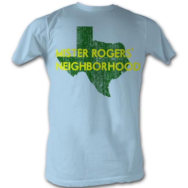 Mister Rogers My Hood Texas Light Blue Adult T-Shirt