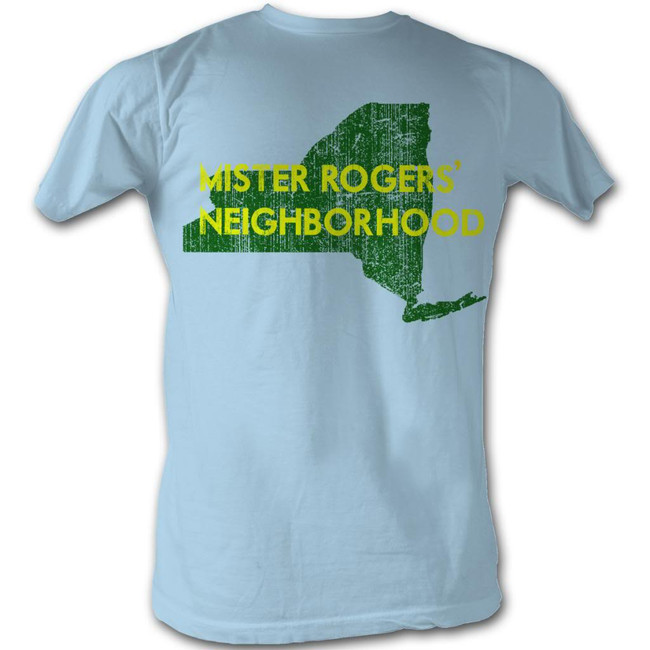 Mister Rogers My Hood New York Light Blue Adult T-Shirt