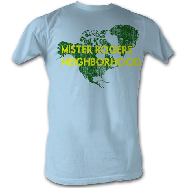 Mister Rogers My Hood Light Blue Adult T-Shirt