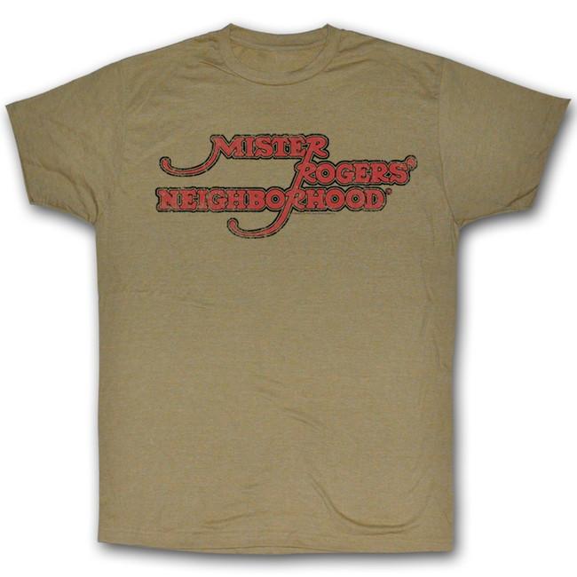 Mister Rogers Neighborhood Khaki Heather Adult T-Shirt