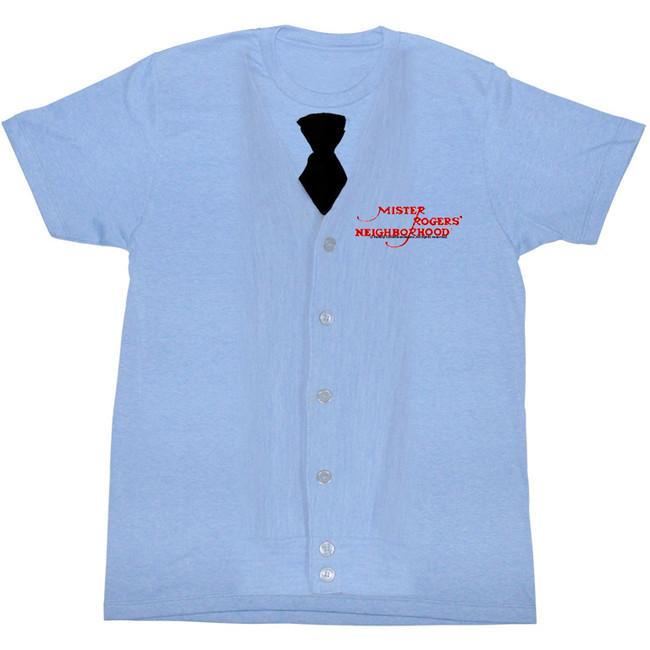 Mister Rogers I Am Rogers Light Blue Heather Adult T-Shirt