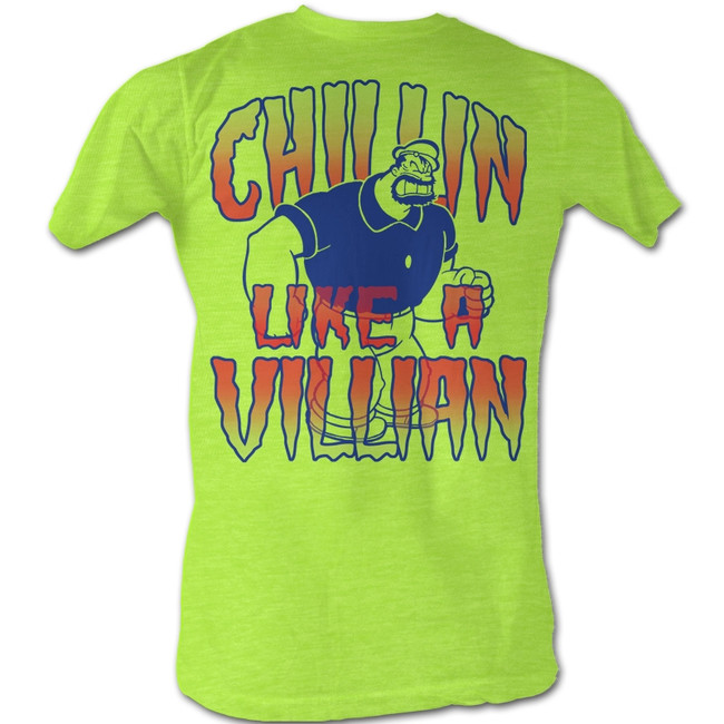 Popeye Chillin' Neon Mint Heather Adult T-Shirt