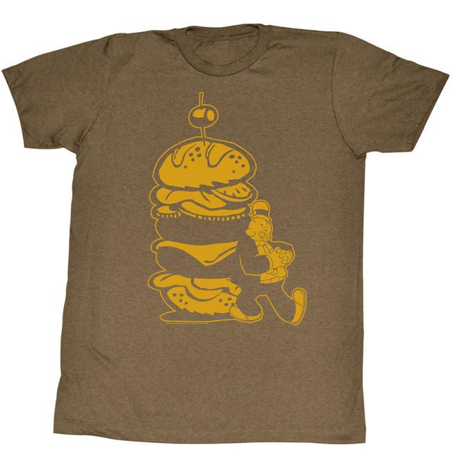 Popeye Burger For The Boy Mocha Heather Adult T-Shirt