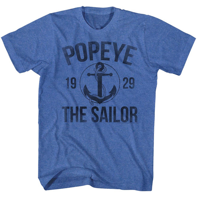 Popeye Anchor Royal Heather Adult T-Shirt