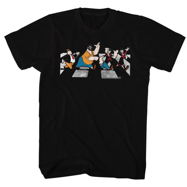 Popeye Crosswalk Black Adult T-Shirt