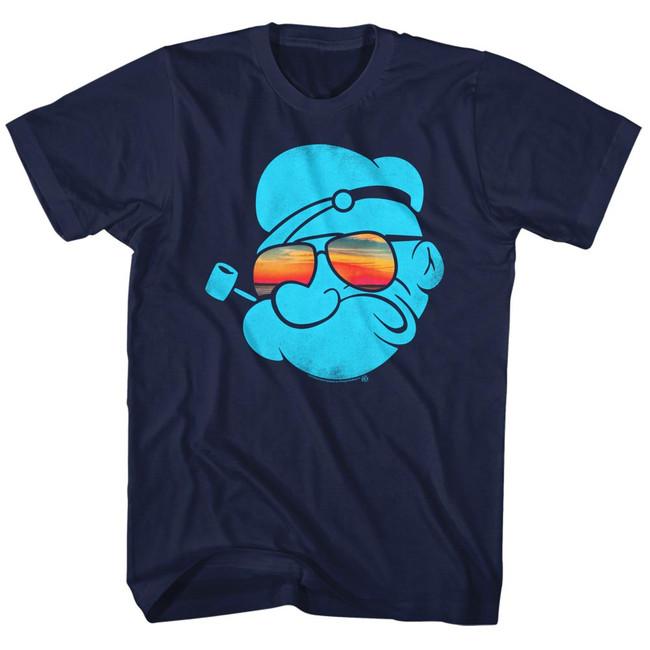 Popeye Aviators Navy Adult T-Shirt
