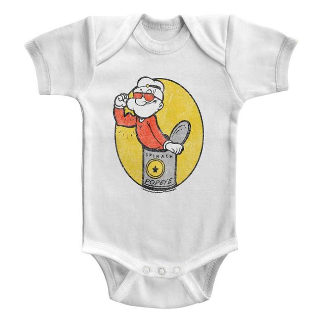 Popeye Baby Popeye White Baby Onesie T-Shirt