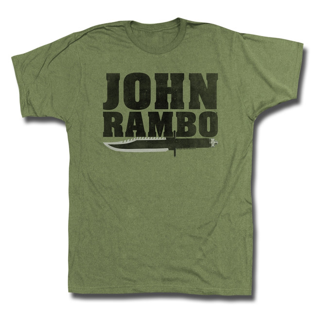 Rambo Jonbo Military Green Adult T-Shirt