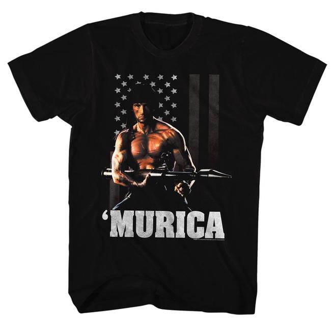 Rambo Freedom Black Adult T-Shirt