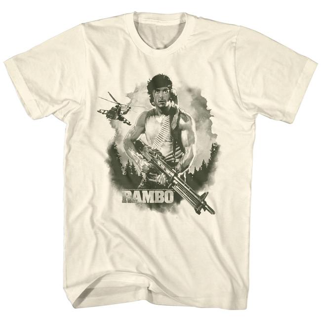 Rambo Watercolor Natural Adult T-Shirt