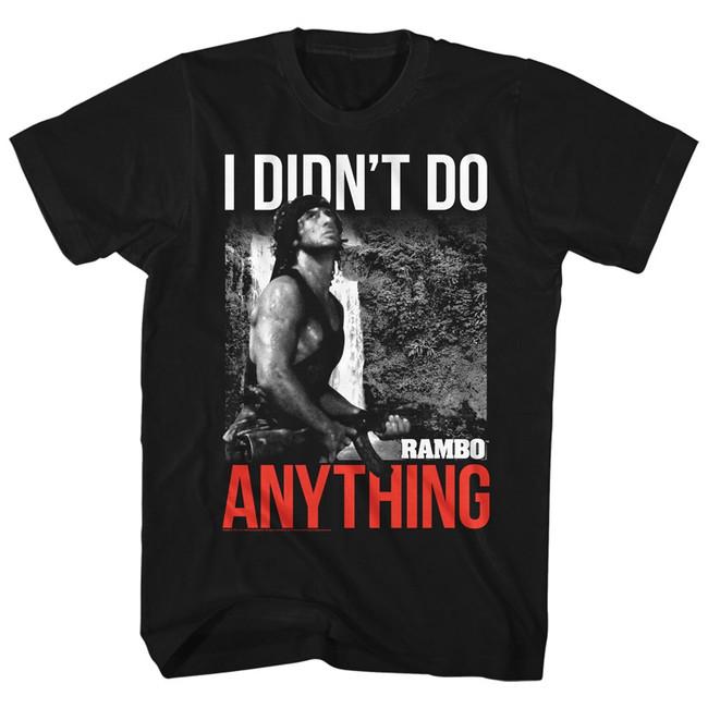Rambo I Didn't Do It Black Adult T-Shirt