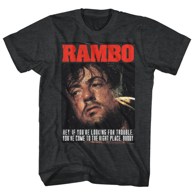 Rambo Gimme Dat Sizzle Black Heather Adult T-Shirt