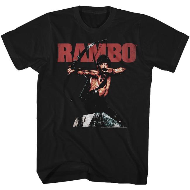 Rambo Rambow Black Adult T-Shirt
