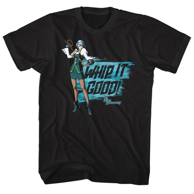 Ace Attorney Whip It Black Adult T-Shirt